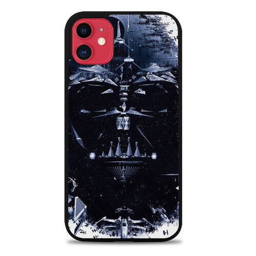 Custodia Cover iphone 11 pro max Star Wars darth vader Face Z4509 Case