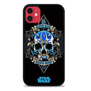 Custodia Cover iphone 11 pro max Star Wars Darth Maul Blue Logo Z4531 Case