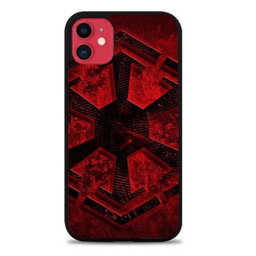 Custodia Cover iphone 11 pro max Star Wars Dark Side logo Z4532 Case