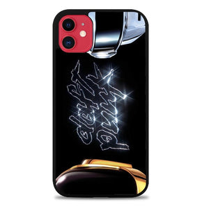 Custodia Cover iphone 11 pro max daft punk black logo Z4591 Case