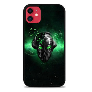 Custodia Cover iphone 11 pro max alien black face art Z4603 Case