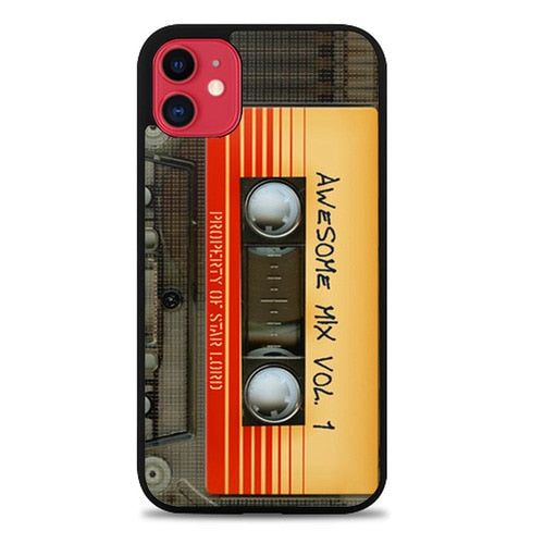 Custodia Cover iphone 11 pro max Awesome transparent mix cassette tape volume Z4697 Case