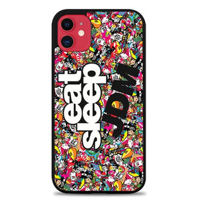 Custodia Cover iphone 11 pro max Eat Sleep JDM Sticker Z4751 Case