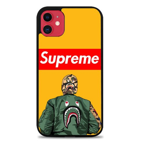Custodia Cover iphone 11 pro max bape supreme Jacket Z4904 Case