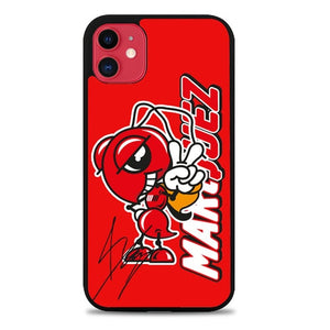 Custodia Cover iphone 11 pro max marc marquez logo with signature Z4923 Case
