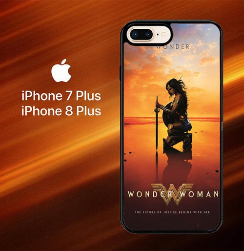 Custodia Cover iphone 7 plus 8 plus wonder woman movie Z4975 Case