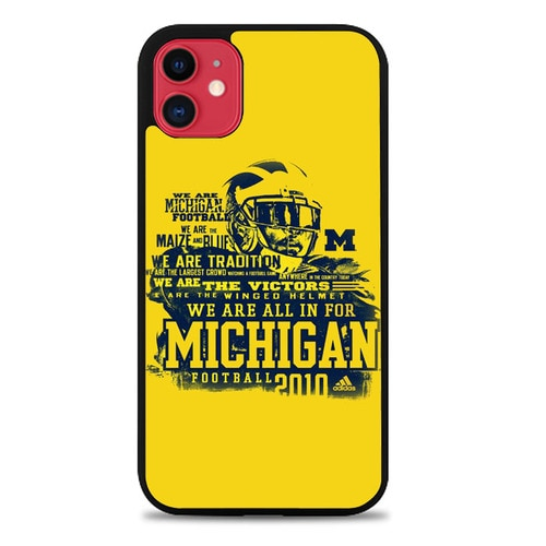 Custodia Cover iphone 11 pro max michigan wolverines football Z5036 Case - custodia cover samsung/iphone/huawei taichitaoista.it