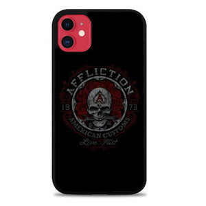 Custodia Cover iphone 11 pro max AFFLICTION INDIAN SKULL LOGO Z5106 Case