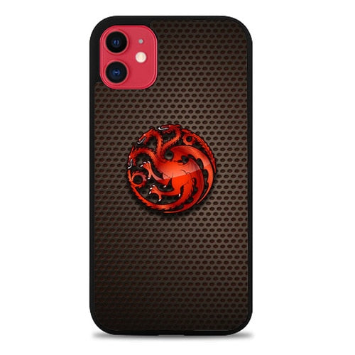 Custodia Cover iphone 11 pro max House Targaryen Logo Carbon Z5189 Case