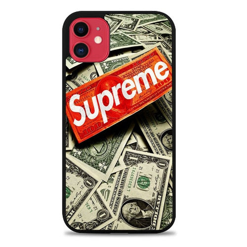 Custodia Cover iphone 11 pro max Supreme hypebeast money Z5223 Case