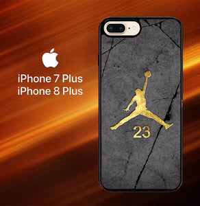 Custodia Cover iphone 7 plus 8 plus Air Jordan 23 Gold Z5304 Case