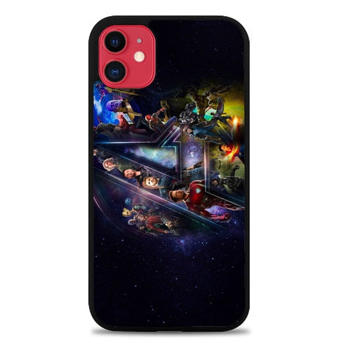 Custodia Cover iphone 11 pro max Avengers infinity war Logo Z7060 Case