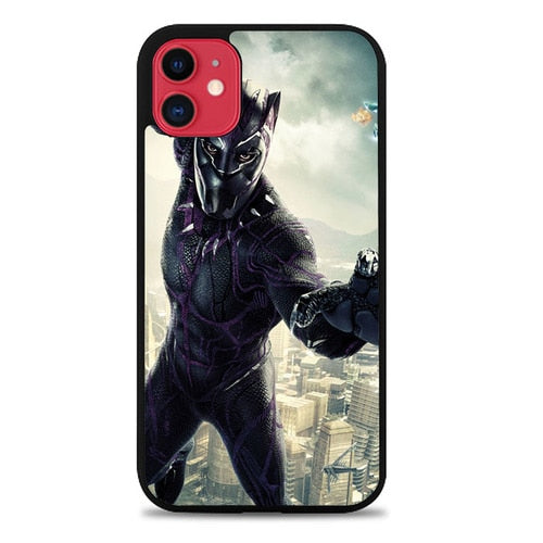 Custodia Cover iphone 11 pro max black panther movie marvel Z7070 Case