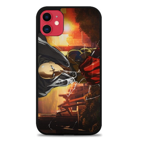 Custodia Cover iphone 11 pro max one punch man saitama Z7138 Case