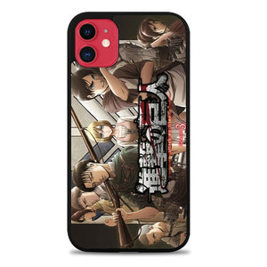 Custodia Cover iphone 11 pro max Anime Shingeki no Kyojin Season 3 Z4648 Case