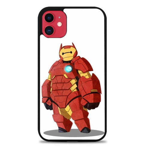 Custodia Cover iphone 11 pro max Baymax iron man Z4658 Case