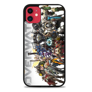 Custodia Cover iphone 11 pro max overwatch characters Z4706 Case