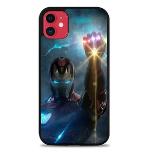 Custodia Cover iphone 11 pro max avengers ironman with infinity glove Z4709 Case
