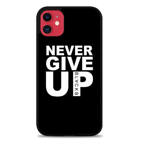 Custodia Cover iphone 11 pro max Never give up Blackb Z4747 Case