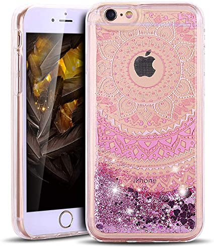 cover iphone 6 glitter liquido