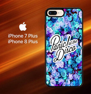 Custodia Cover iphone 7 plus 8 plus Panic At The Disco Flower X4351 Case