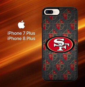 Custodia Cover iphone 7 plus 8 plus San Francisco 49ers Logo X4906 Case
