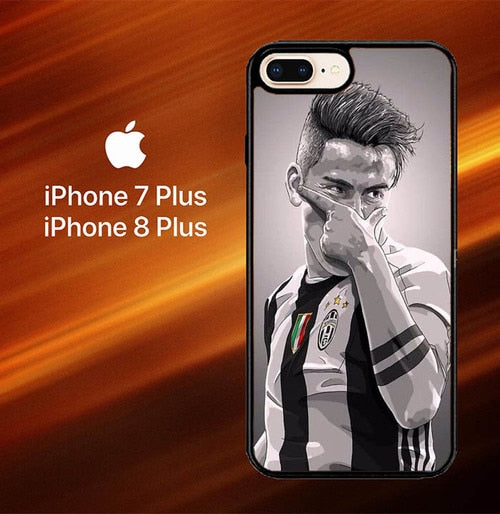 Custodia Cover iphone 7 plus 8 plus Paulo Dybala Juventus X6015 Case