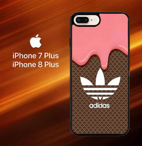 Custodia Cover iphone 7 plus 8 plus Adidas logo ideas X6084 Case