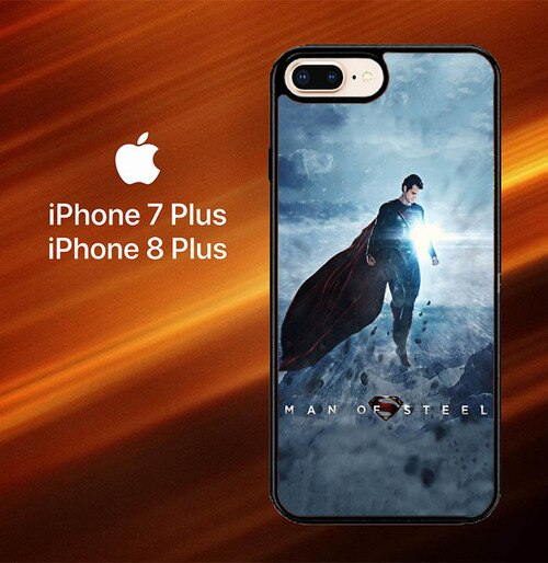 Custodia Cover iphone 7 plus 8 plus Man of Steel X6065 Case