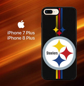 Custodia Cover iphone 7 plus 8 plus Pittsburgh Steelers logo X6241 Case