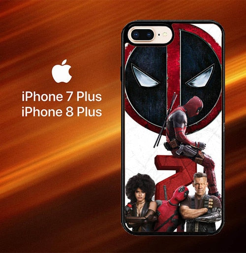 Custodia Cover iphone 7 plus 8 plus Deadpool 2 X8014 Case