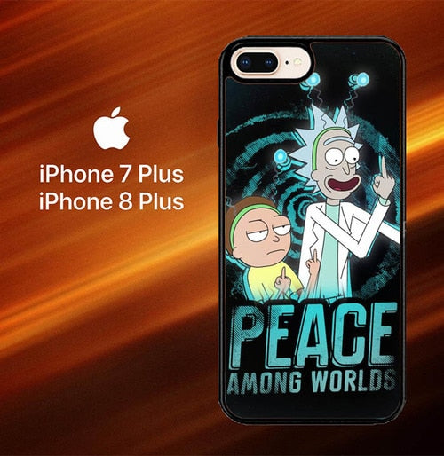 Custodia Cover iphone 7 plus 8 plus Rick and Morty X8036 Case