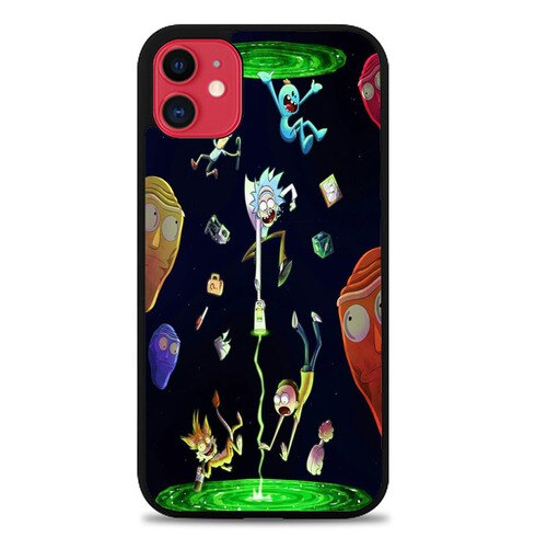 Custodia Cover iphone 11 pro max Rick And Morty Wallpaper X8921 Case