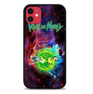 Custodia Cover iphone 11 pro max Rick And Morty Wallpaper X8922 Case
