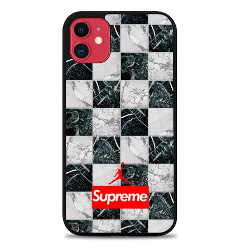 Custodia Cover iphone 11 pro max Supreme x Jordan black white marble X0050 Case - custodia cover samsung/iphone/huawei taichitaoista.it
