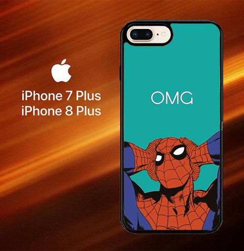Custodia Cover iphone 7 plus 8 plus Spiderman OMG L0265 Case