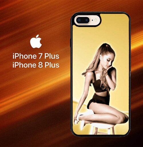 Custodia Cover iphone 7 plus 8 plus ariana grande gold L0588 Case