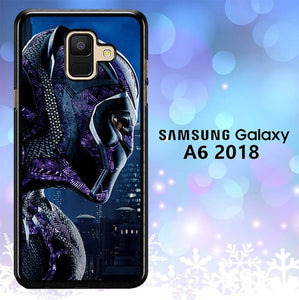 Custodia Cover samsung galaxy A6 2018 Black Panther Marvel 2 L0595 Case