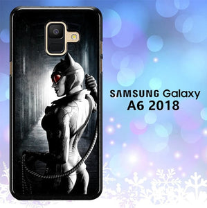 Custodia Cover samsung galaxy A6 2018 cat woman dark L0606a Case