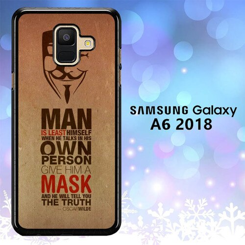 Custodia Cover samsung galaxy A6 2018 Anonymous Oscar Wilde L0634 Case