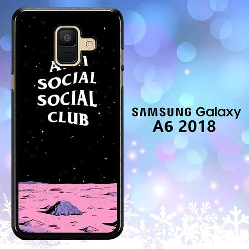 Custodia Cover samsung galaxy A6 2018 Anti Social Social Club L0663 Case