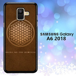 Custodia Cover samsung galaxy A6 2018 bring me the horizon brown L1049 Case