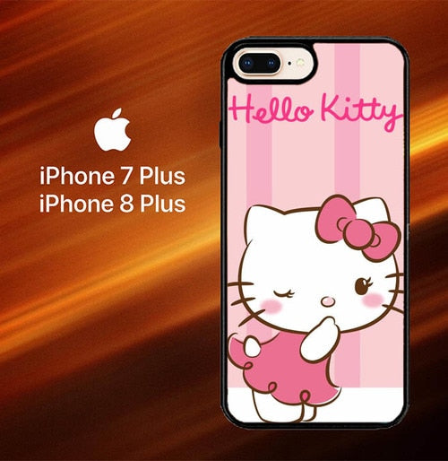 Custodia Cover iphone 7 plus 8 plus hello kitty cute pink L1077 Case