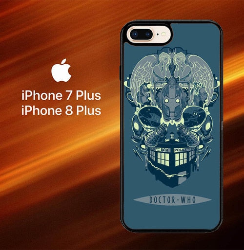 Custodia Cover iphone 7 plus 8 plus Doctor Who TARDIS Skull L1237 Case