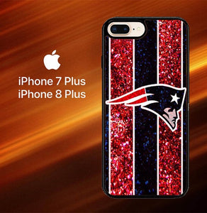 Custodia Cover iphone 7 plus 8 plus New England Patriots NFL logo L1323 Case