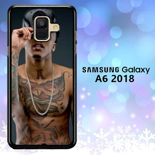 Custodia Cover samsung galaxy A6 2018 August Alsina Kissin On My Tattoos L1379 Case