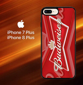 Custodia Cover iphone 7 plus 8 plus Budweiser L2457 Case
