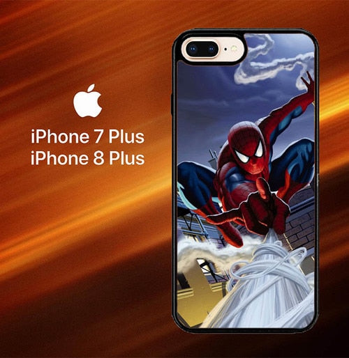 Custodia Cover iphone 7 plus 8 plus Spiderman Marvel Swing L2658 Case