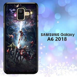Custodia Cover samsung galaxy A6 2018 Avengers L3043 Case