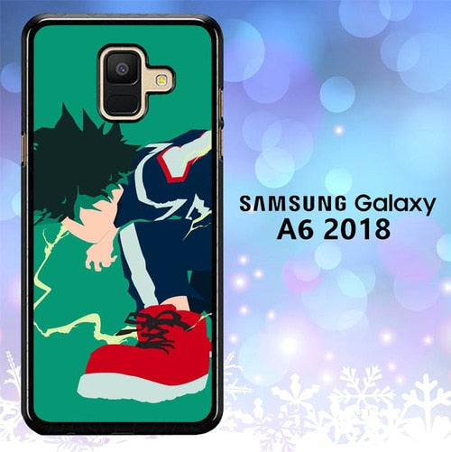 Custodia Cover samsung galaxy A6 2018 Boku no Hero Midoriya 2 L3051 Case